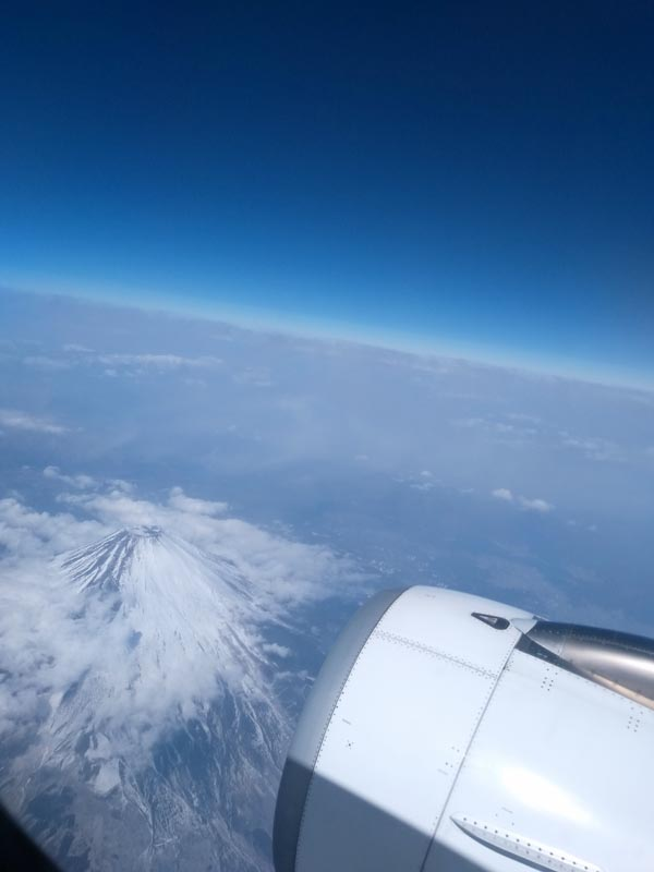 Mt. Fuji from above